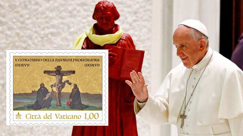 """""""Vatikan gibt Luther-Sonderbriefmarke anläßlich des 500. Jahrestags der Reformation heraus"""""""