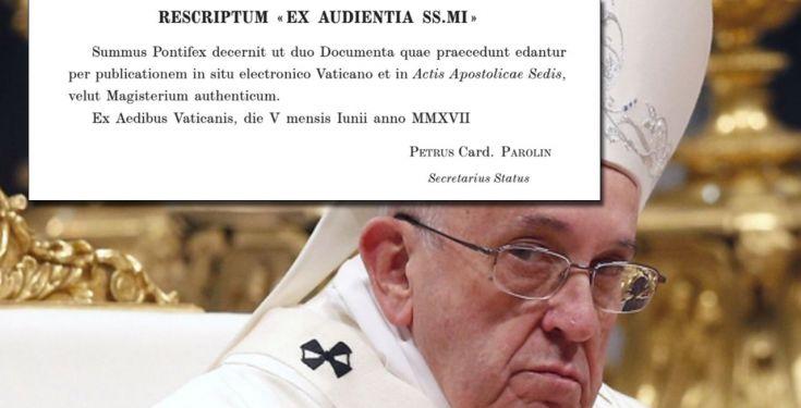 Franziskus veröffentlicht häretisches Dokument über Amoris Laetitia in den Akten des Apostolischen Stuhls